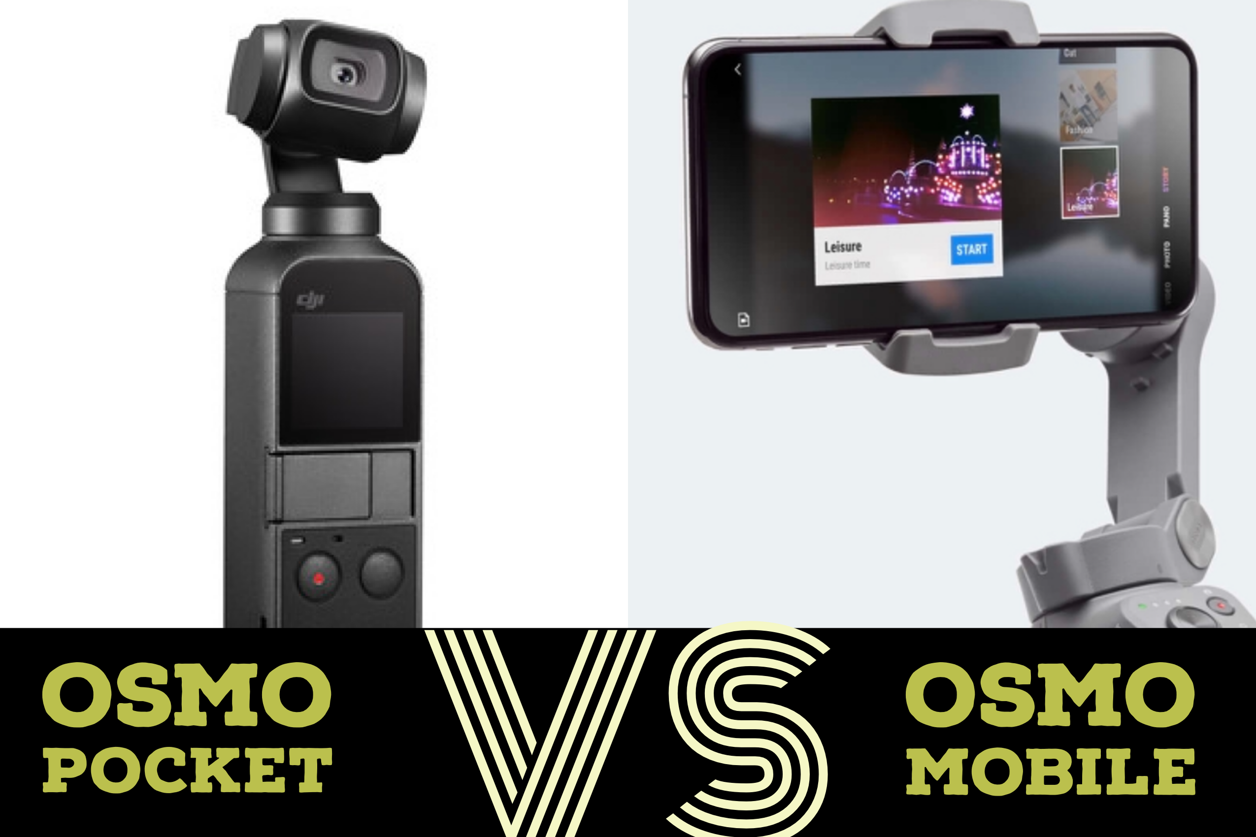 徹底比較!Osmo Pocket VS Osmo mobile どちらが買い?